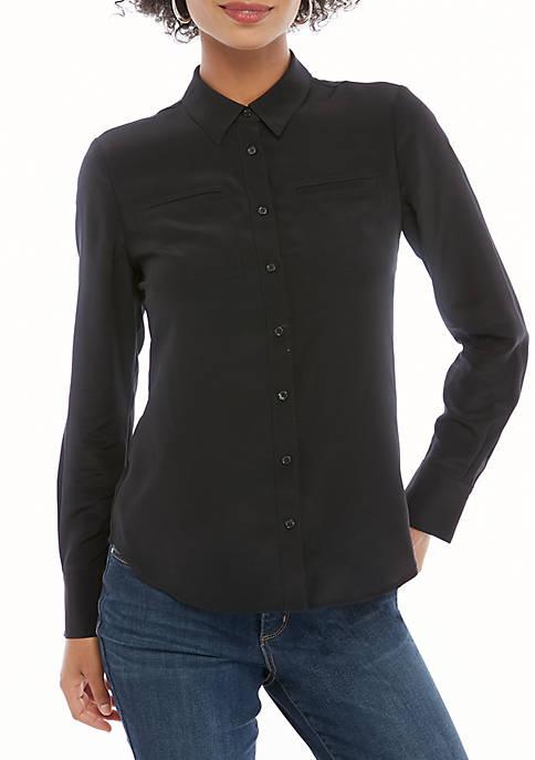THE LIMITED Silk Button Down Shirt