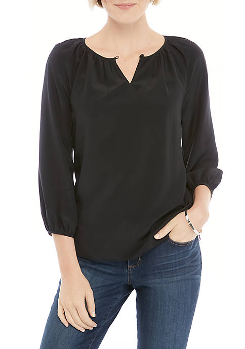 Silk 3/4 Sleeve Blouse