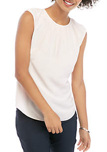 THE LIMITED Silk Cap Sleeve Shell