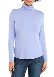 THE LIMITED Long Sleeve Fashion Turtleneck Top