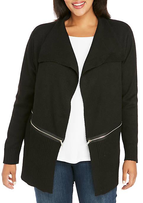 Plus Size Zip Jacket