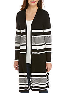 THE LIMITED Stripe Duster Cardigan