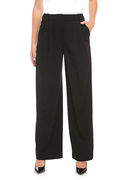 High Rise Wide Leg Pants in Modern Stretch