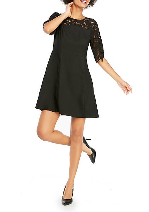 Lace Yoke Dress