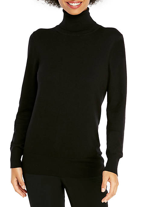 Fine Rib Turtleneck Top