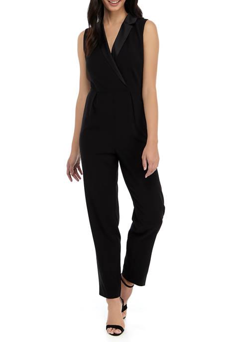 Womens Tuxedo Jumpsuit in Modern Stretch