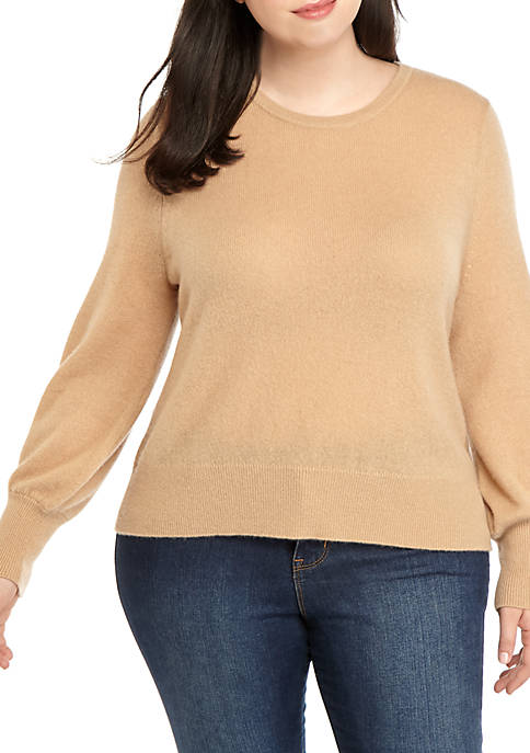 Plus Size Genuine Cashmere Sweater