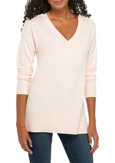 Womens Cashmere Blend V-Neck Sweater