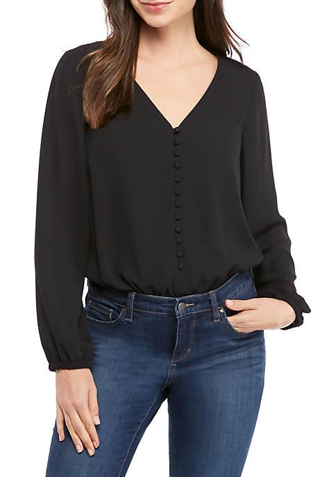 Womens Button Front Bodysuit