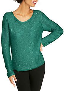 Open V-Back Sweater
