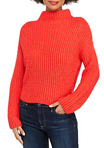 THE LIMITED Funnel Neck Crop Sweater