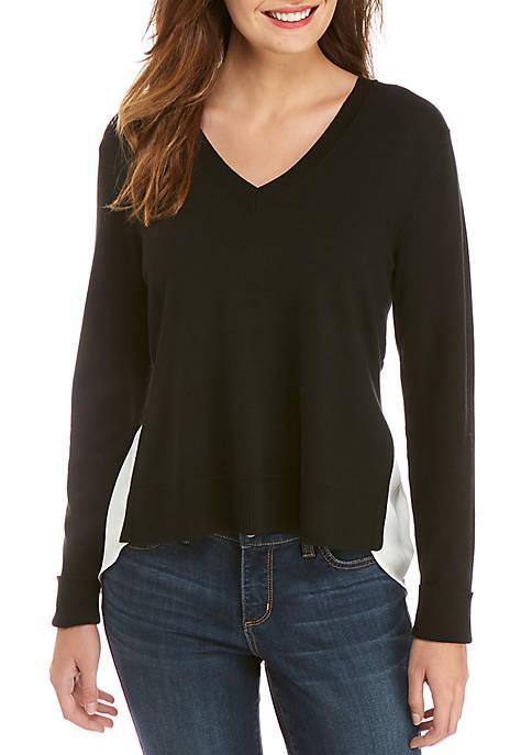 V-Neck 2Fer Sweater