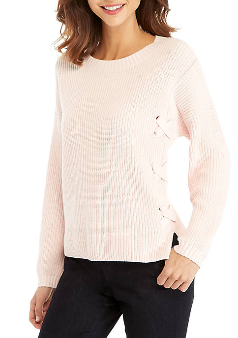THE LIMITED Lace Front Sweater