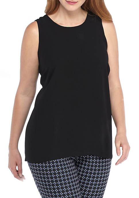 THE LIMITED Plus Size Back Pleat Tank