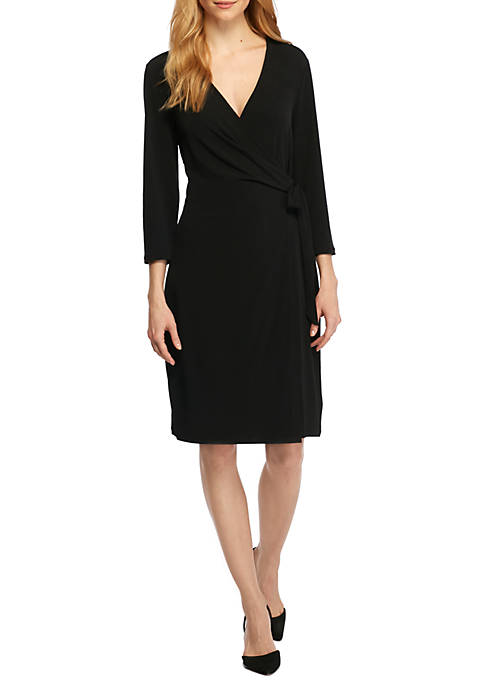 THE LIMITED Collarless Wrap Dress