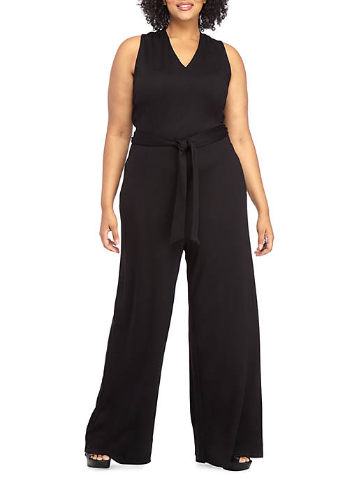 Plus Size Lightweight Ponte Jumpsuit