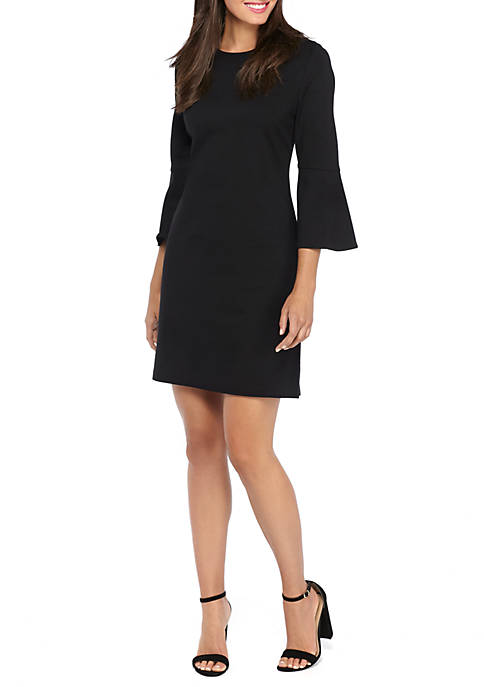 THE LIMITED Bell Sleeve Ponte Knit Dress