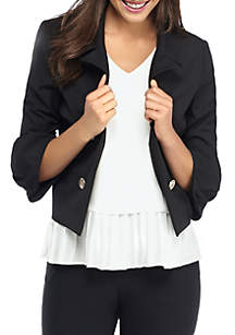 Petite Buckle Sleeve Jacket