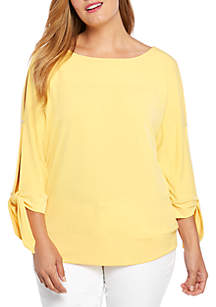 THE LIMITED Plus Size Tie Sleeve Banded Top