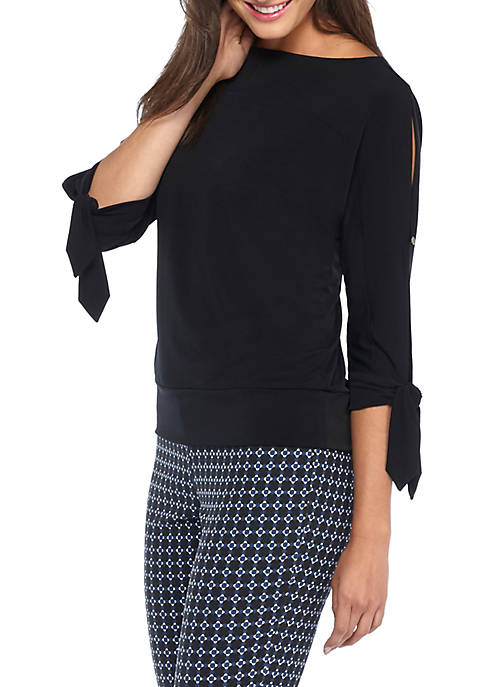 THE LIMITED Tie Sleeve Banded Top