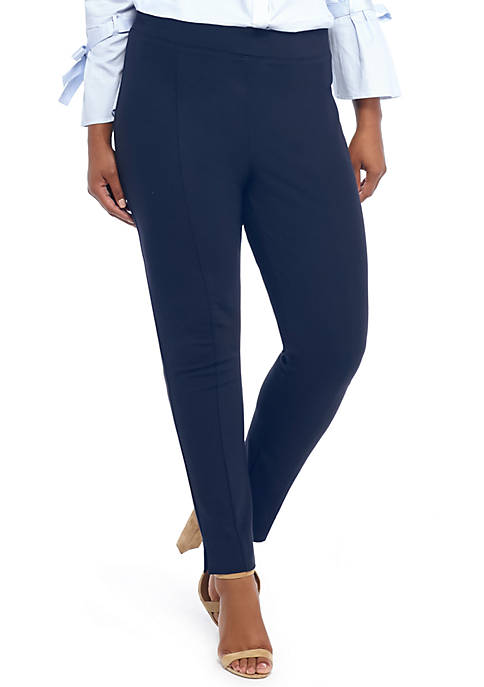 Plus Size Signature Pull On Skinny Pants in Ponte