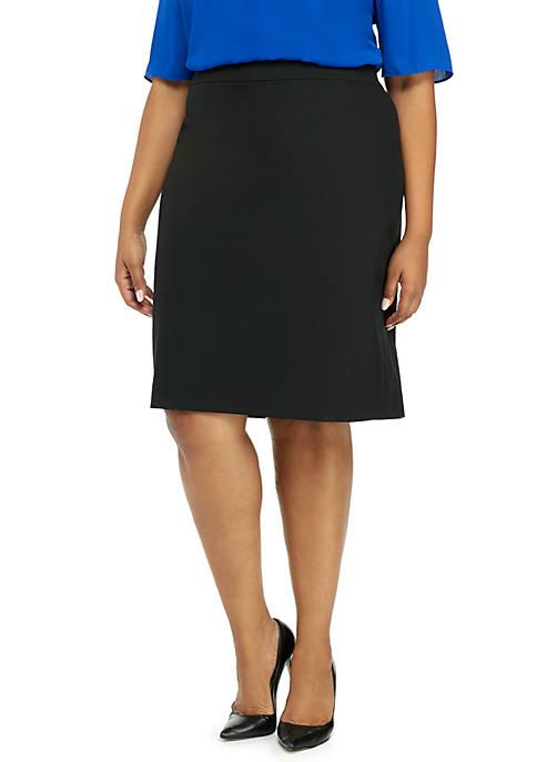 Plus Size Signature Pencil Skirt in Modern Stretch