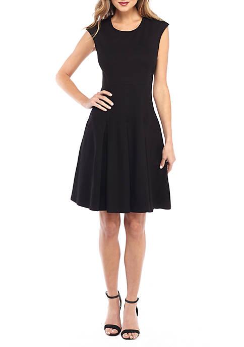 Sleeveless Ponte A-line Dress