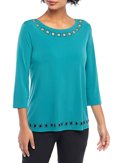 THE LIMITED Beaded Cutout Blouse