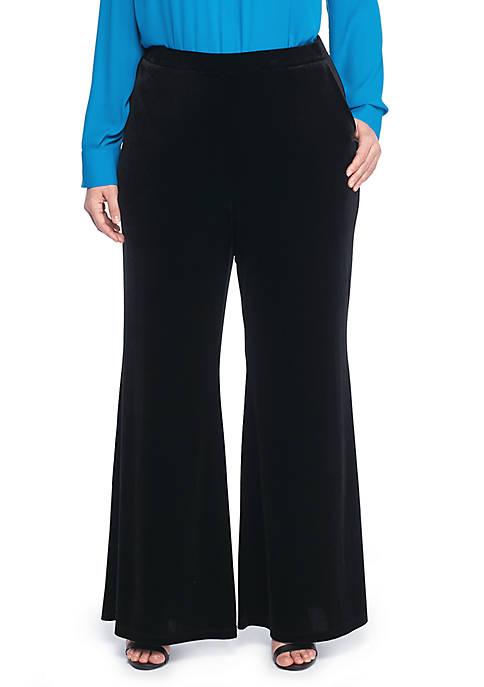 Plus Size Signature Wide Leg Pant in Velvet