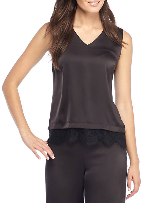 Sleeveless Lace Shell