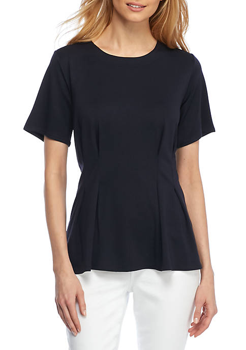 THE LIMITED Petite Lightweight Ponte Top