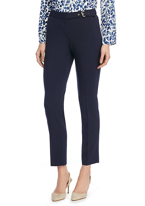 Petite Signature Skinny Pant with Side Buckle in Modern Stretch