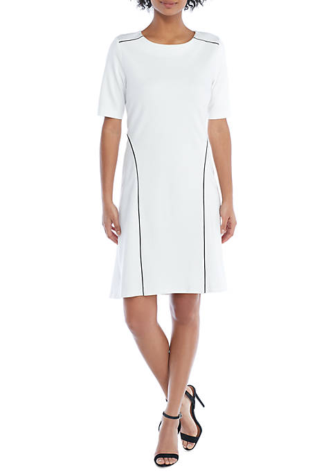 THE LIMITED Piped High Low Hem Dress