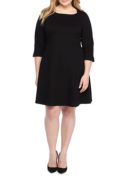THE LIMITED Plus Size Square Neck Ponte Dress