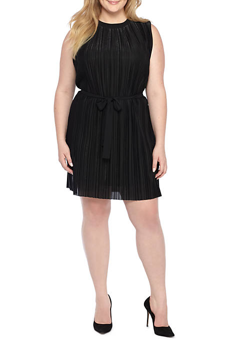 THE LIMITED Plus Size Sleeveless Shimmer Pleat Dress