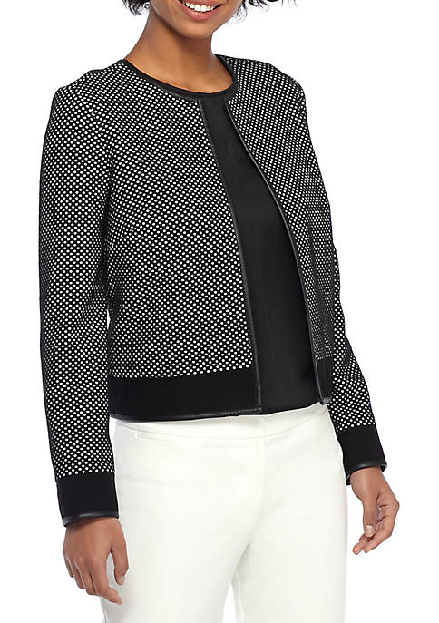 THE LIMITED Polka Dot Textured Jacket