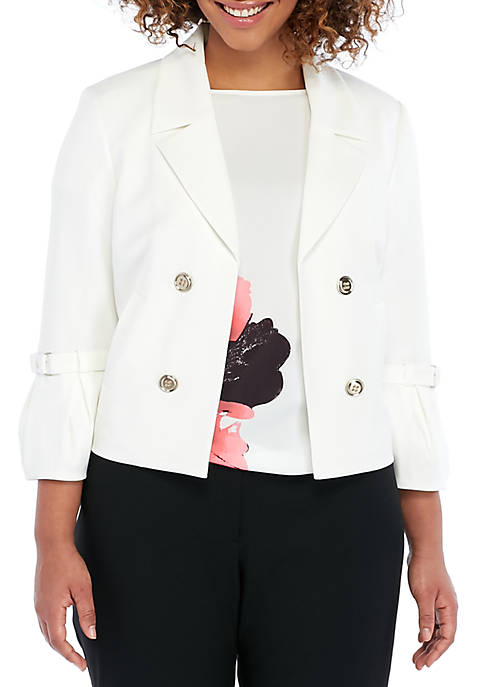 THE LIMITED Plus Size Buckle Sleeve Jacket