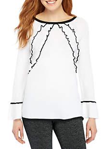 Ruffle Bell Sleeve Sweater