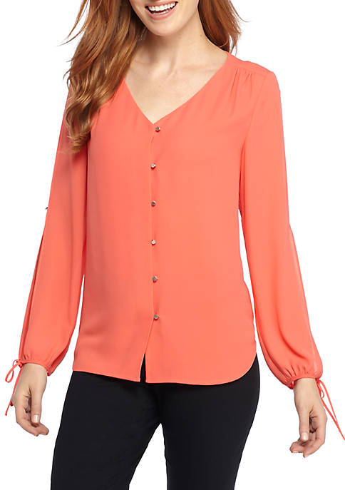 THE LIMITED Open Sleeve V-Neck Blouse