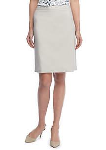 Sateen Pencil Skirt