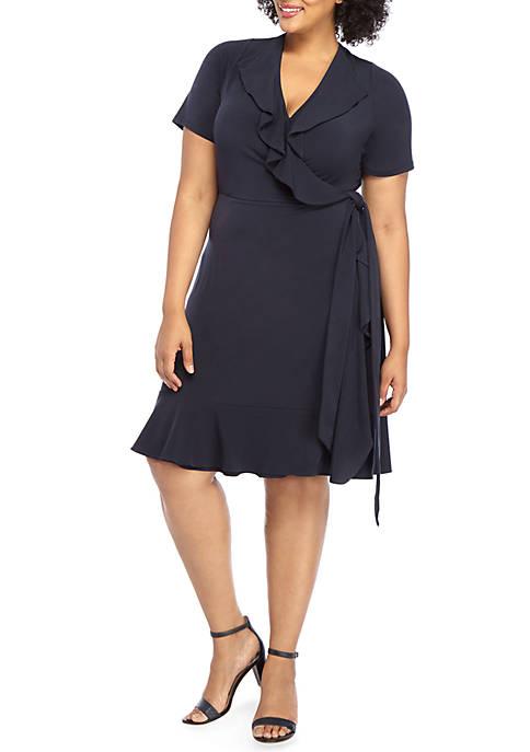 THE LIMITED Plus Size Ruffle Wrap Dress