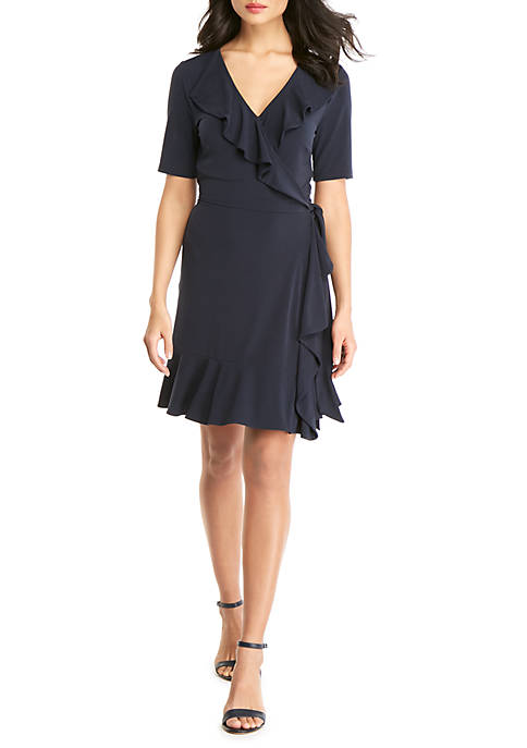 THE LIMITED Shortened Ruffle Front Dress