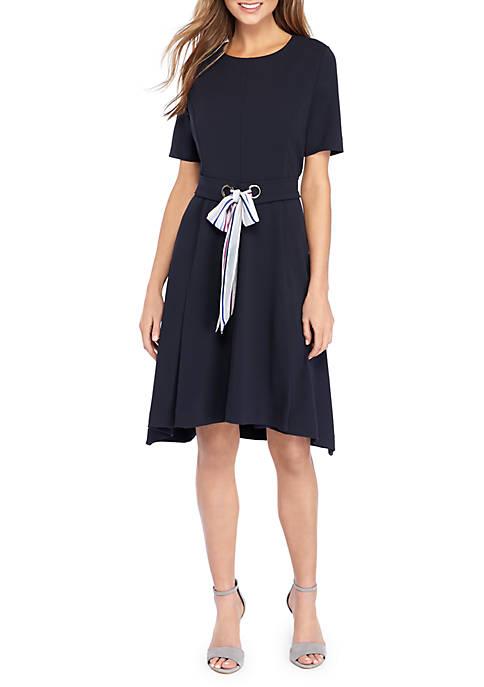 Crepe Tie Dress