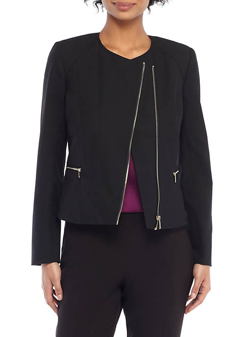 THE LIMITED Petite Asymmetrical Zip Moto Jacket