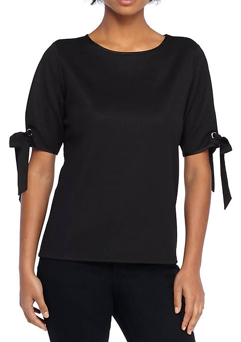 THE LIMITED Tie Sleeve Grommet Top