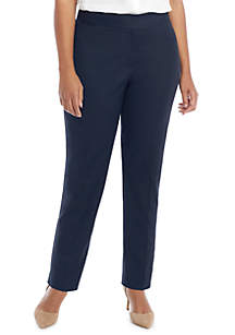 Plus Size Signature Ankle Pant in Stretch Cotton