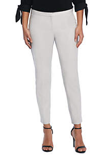 Petite Signature Ankle Pant in Stretch Cotton