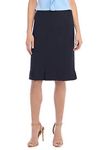 Box Pleat Pencil Skirt