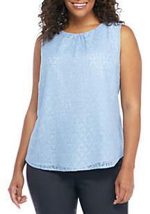 Plus Size Lace Front Contrast Cami