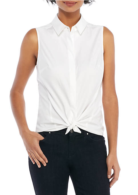THE LIMITED Cotton Sleeveless Shirt